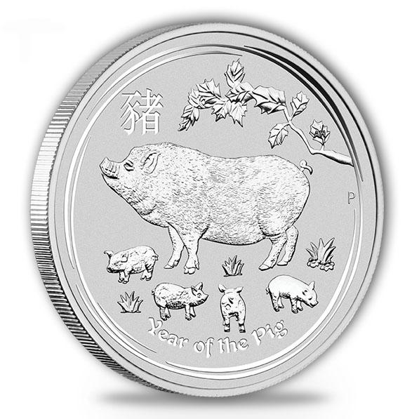 Lunar II - Schwein - 10 Oz Silber 2019 *