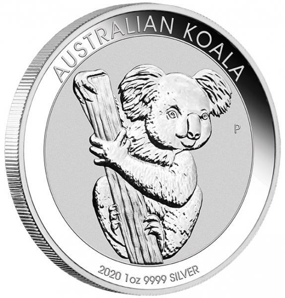 Koala 1 Unze Silbermünze 2020