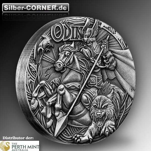 Odin 2 Oz Silber Antik Münze