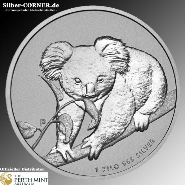 Koala Silbermünze 1 KG diver.