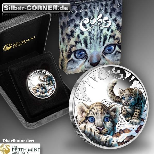 1/2 Oz Silber Schneeleopard Perth Mint