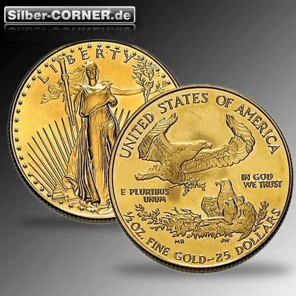 American Eagle 1/2 Oz Gold div Jahrgänge