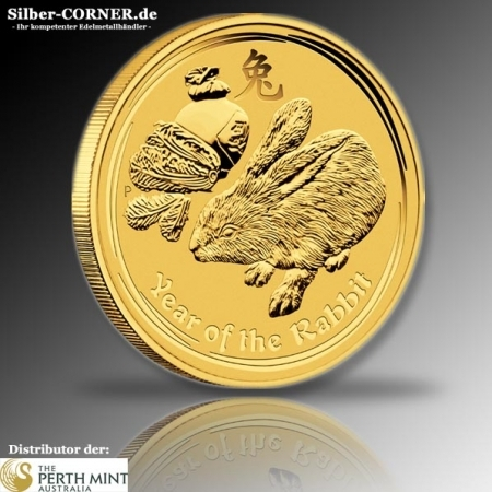 Lunar Hase 1/2 Oz Gold