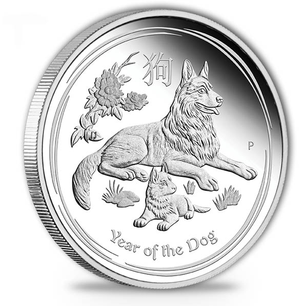 Lunar II Hund 1 Oz Silber Proof + Box + Zertifikat *