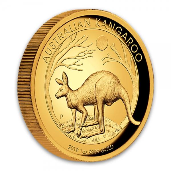 1 Oz Gold High Relief Känguru 2019
