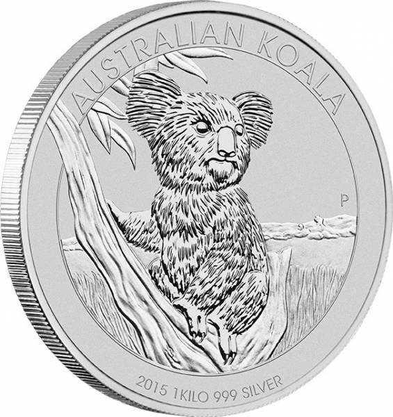 Koala 1 KG Silbermünze 2015