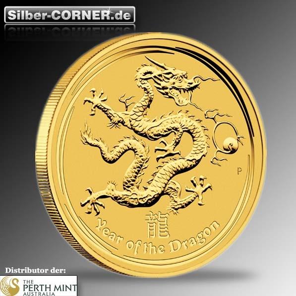 Lunar II Drache 1 Oz Gold 2012