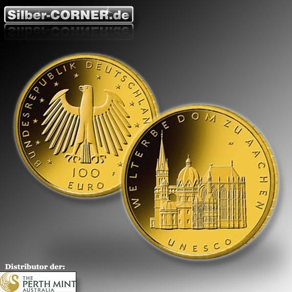 Aachner Dom 1/2 Oz 100 Euro Goldmünze