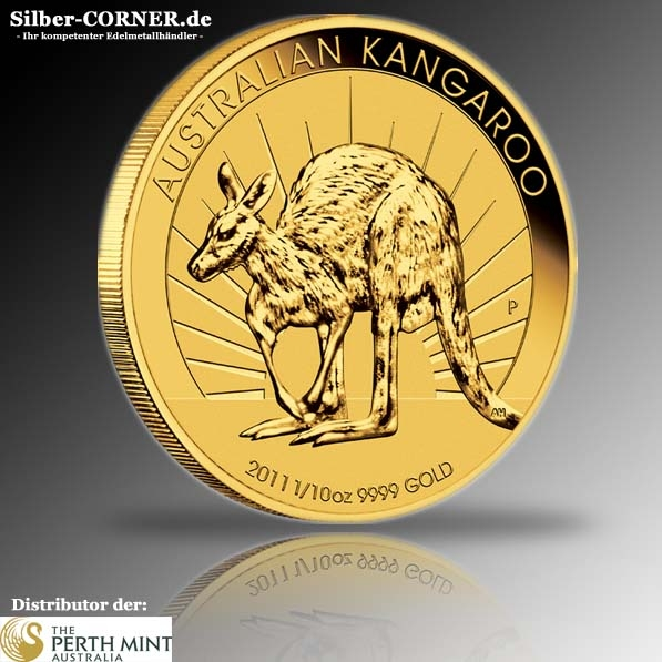 Kangaroo 2011 1/10 Oz Gold