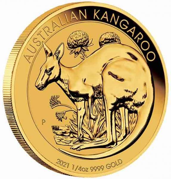 1/4 Unze Känguru Goldmünze Jahrgang 2021
