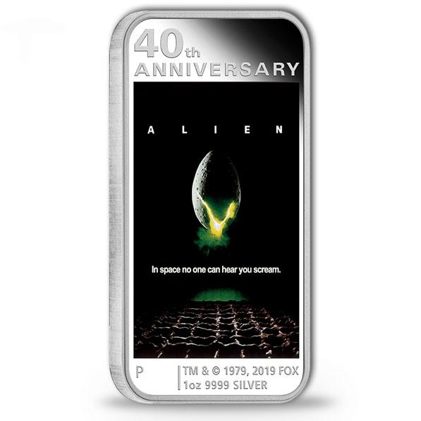 ALIEN 40th Anniversary 1 Oz Silber Proof +Box +COA *