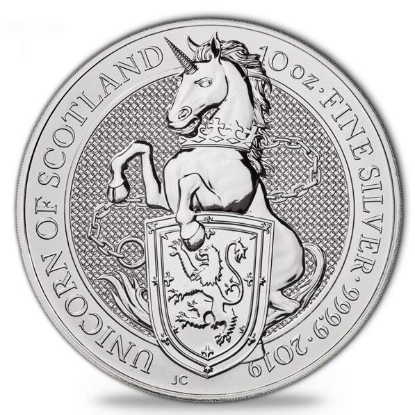 Queens Beasts - Unicorn - 10 Unzen Silber 2019 *