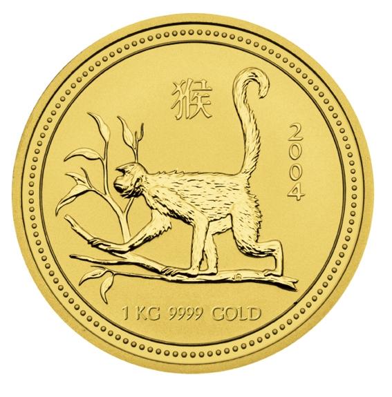 Lunar Serie I Jahre des Affen 2004 1 KG Gold