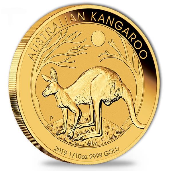 Australien Känguru 1/10 Oz Gold 2019