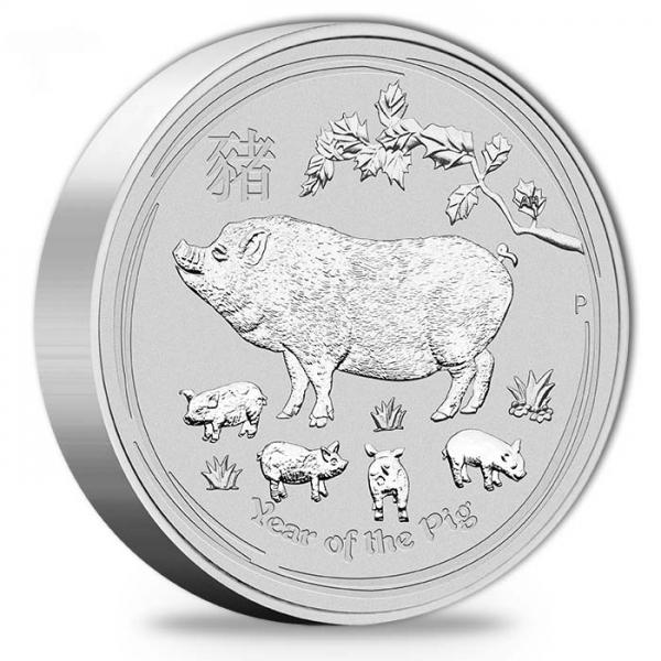 Lunar II Schwein 10 Kg Silber 2019 *