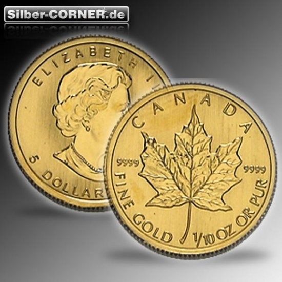 Maple Leaf ältere Jahrgänge 1/10 Unze Gold