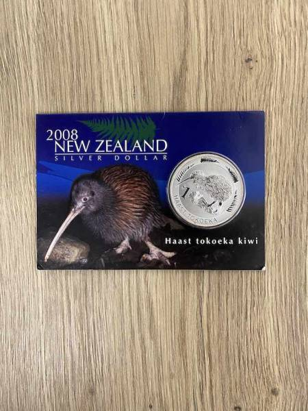 Kiwi 1 Oz Silber 2008 im Blister*