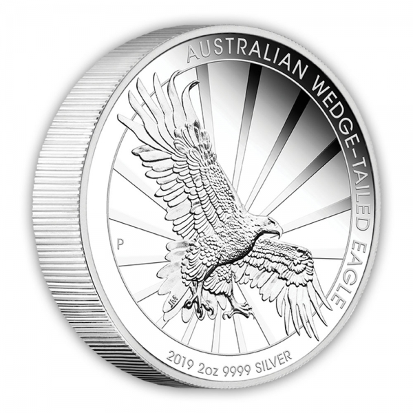 2019 2 oz Silber Piedfort Wedge Tailed Eagle 2019*