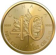 1 Oz Gold 40 Jahre Maple Leaf 2019