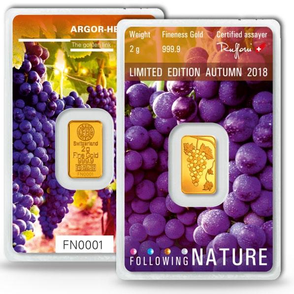 Following Nature - Herbst / Autum - 2 Gramm Gold 2018