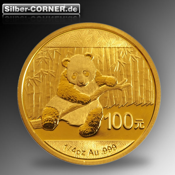 1/4 Oz Gold China Panda 2014