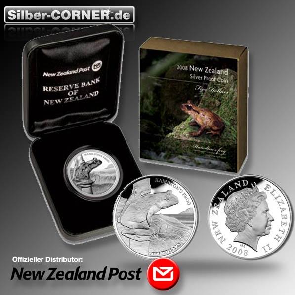 Hamilton Frog 2008 1 Oz Silber Proof + Box + COA*