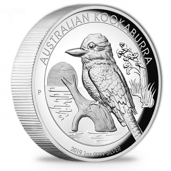 Kookaburra 1 Oz Silber High Relief 2019 +Box +COA*