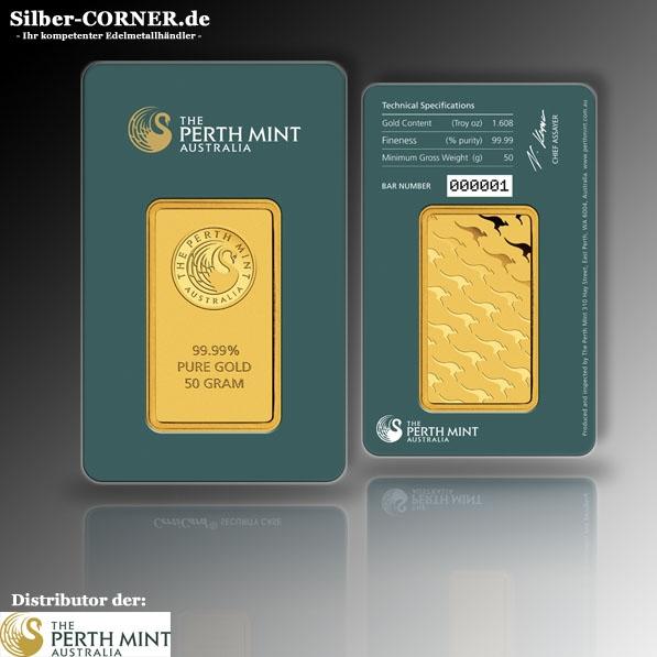 Minted Barren 50 Gramm Gold