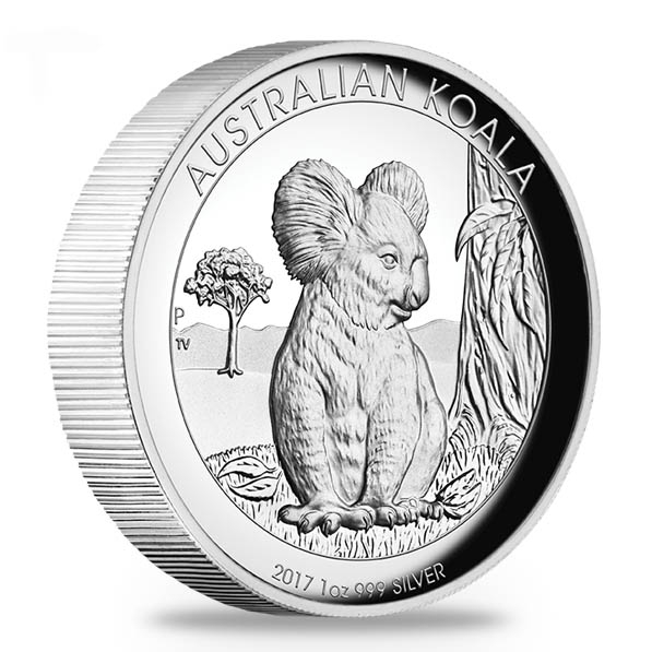 High Relief Koala 2017 1 Oz Silber *