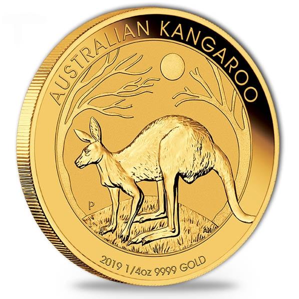 Australien Känguru 1/4 Oz Gold 2019