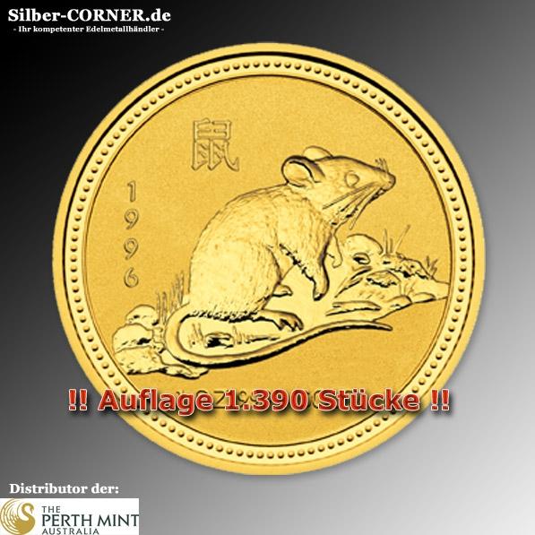 Lunar I Ratte 1996 1/4 Oz Gold
