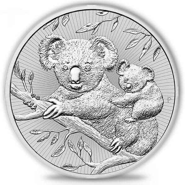 Koala 2 Unzen Silber 2018 - Piedfort -*