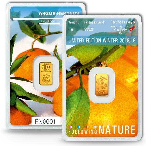 Following Nature - Winter - 1 Gramm Gold 2018/2019
