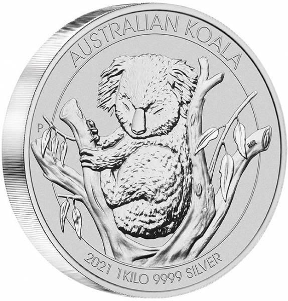 Australien Koala 1 KG Silber 2021*