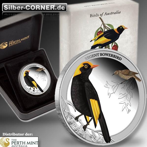 Regent Bowerbird 1/2 Oz Proof Silber + Box + CoA*