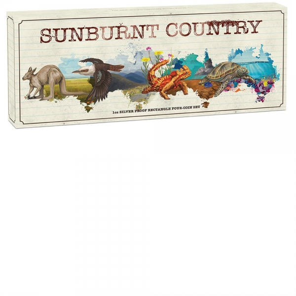 Sunburnt Country 4 Coin Set Silber Proof 2015 *