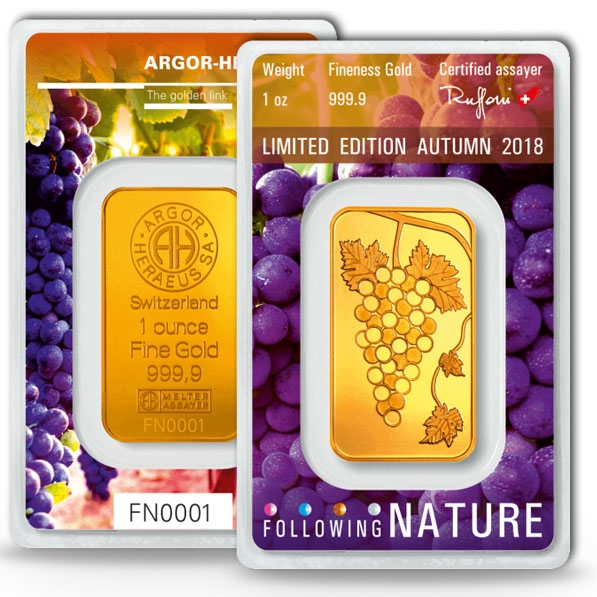 Following Nature - Herbst / Autum - 1 Oz Goldbarren 2018
