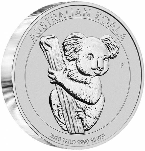 Australien Koala 2020 1 Kilogramm Silber