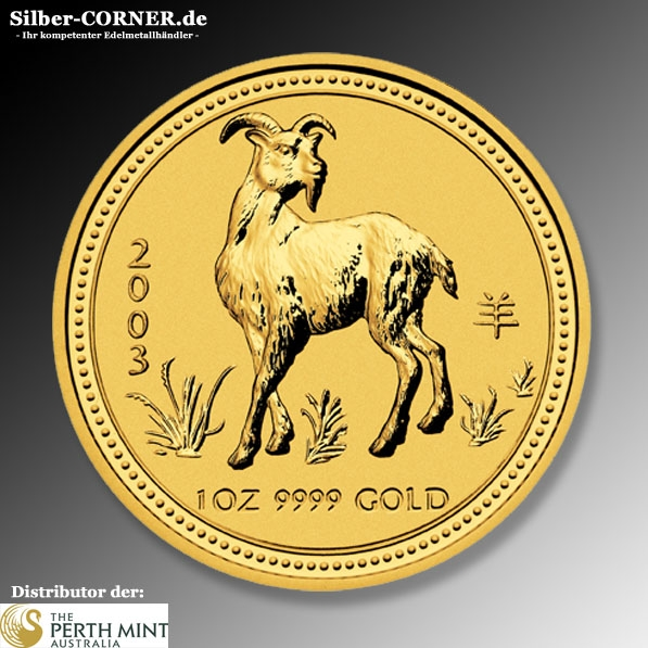 Lunar Ziege 2003 1 Oz Gold