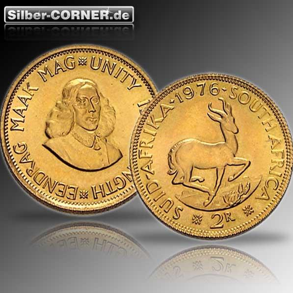 2 Rand Goldmünze Süd Afrika