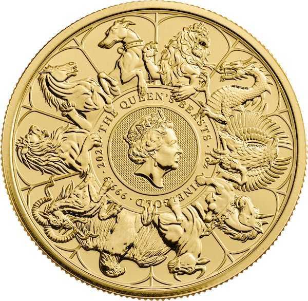 Queen´s Beasts - Completer Coin - 1 Unze Gold 2021