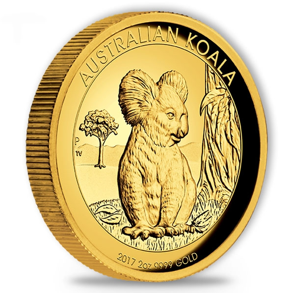 Australien Koala - 2 Oz Gold High Relief - 2017 + Box + COA