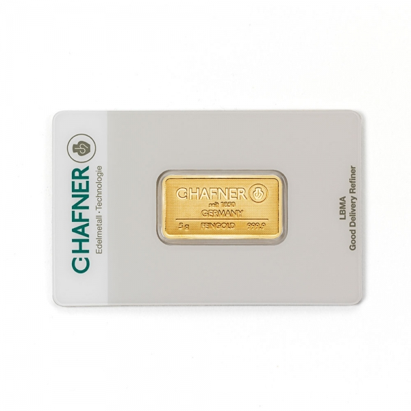 5 Gramm C. Hafner Goldbarren