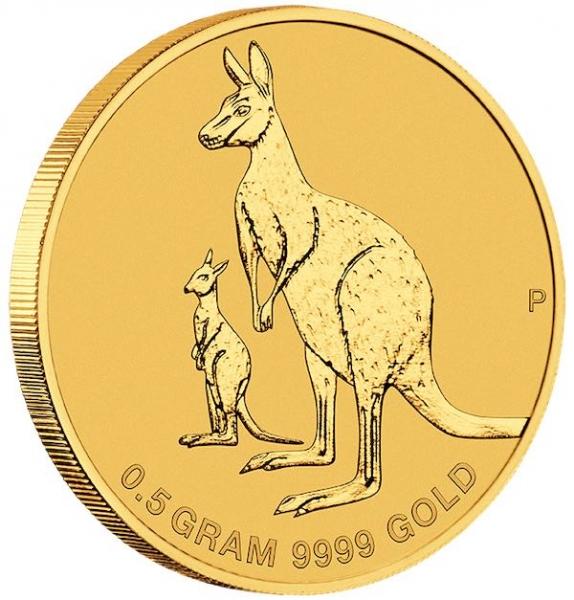 Mini Roo - Känguru - 0,5 Gramm Gold 2020 im Blister