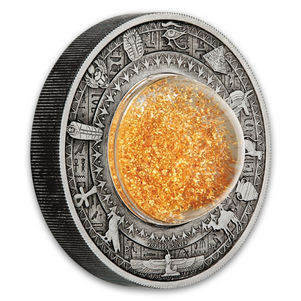 Golden Treasures of Ancient Egypt 2 Oz Antik Silber *