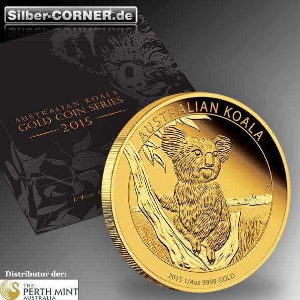 Koala 2015 1/4 Oz Gold Proof + Box + CoA
