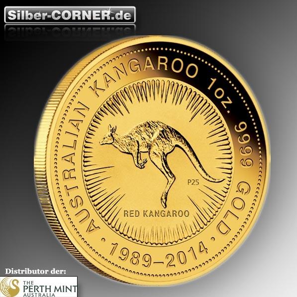 Jubiläums Känguru 1 Oz Gold 25 Jahre