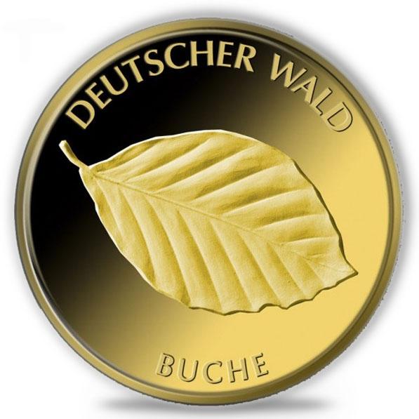 1/8 Oz Gold Deutscher Wald Buche 2011
