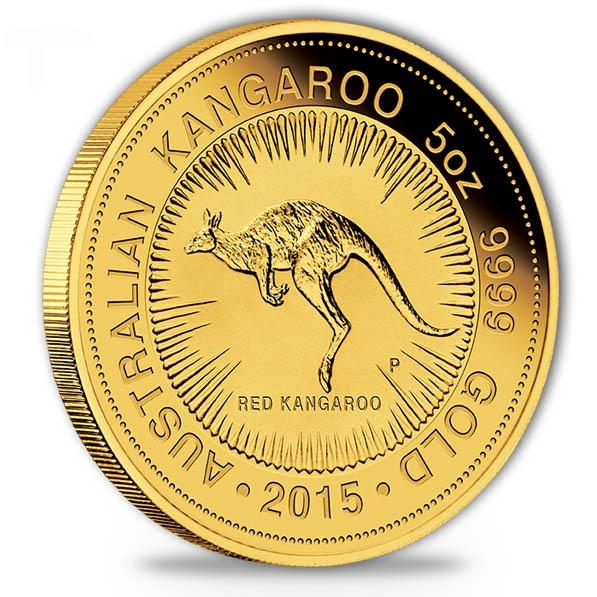 Australien Känguru 5 Unzen Goldmünzen 2015