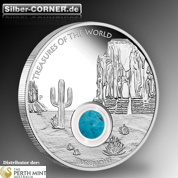 Treasures of the World - Turquoise - 1 Oz Silber Proof